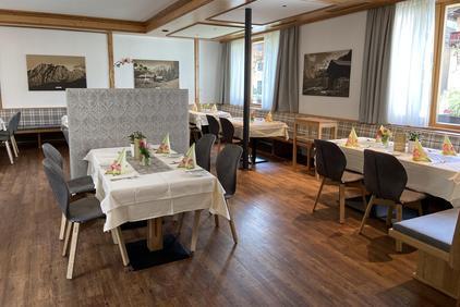 Dining room in the Dolomitenhof