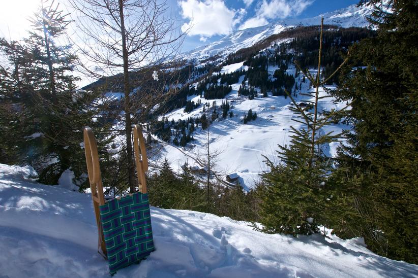 Rodeln Tilliachalmweg, Außervillgraten   © TVB Osttirol / Weitlaner Jakob