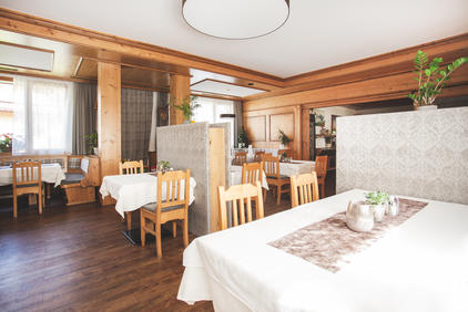 Speisesaal im Dolomitenhof